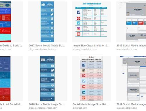 Tamaño de imágenes en Redes Sociales