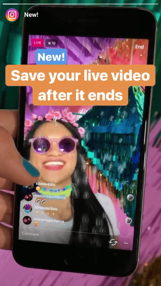 Instagram live save Digitalsnack
