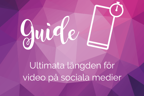 Längd video sociala medier