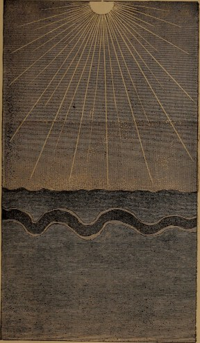 """Deposits of the sea, settling to their own specific gravity"" illustration from ""God in nature and revelation"" (1875)"
