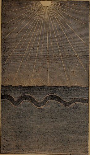 """""""Deposits of the sea, settling to their own specific gravity"""" illustration from """"God in nature and revelation"""" (1875)"""