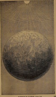 """""""Kosmos in vapor"""" illustration from """"God in nature and revelation"""" (1875)"""