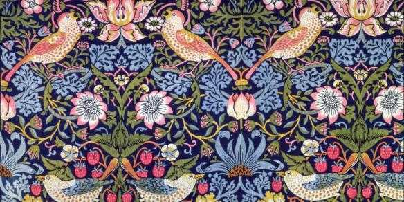 Morris's Strawberry Thief remains one of his most popular designs today