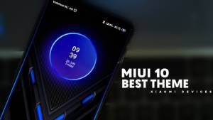 Best Theme for MIUI 10-Blue Ring
