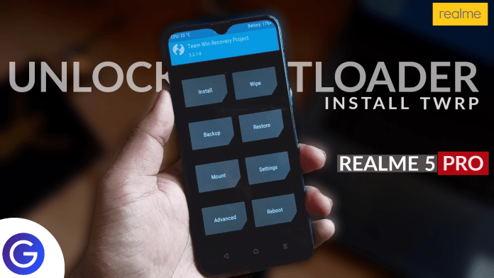 Install Custom TWRP Recovery In Realme 5 pro