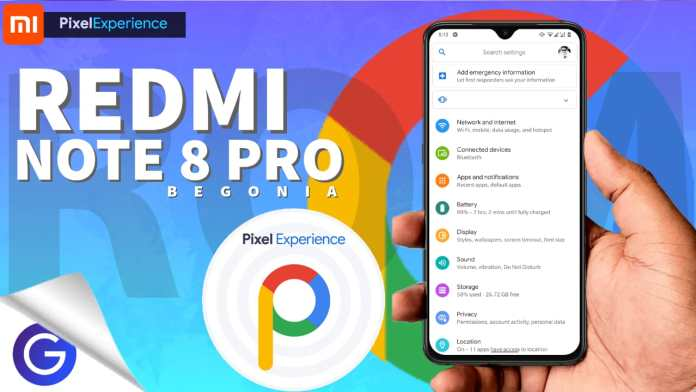 redmi note 8 pro: pixel experience rom