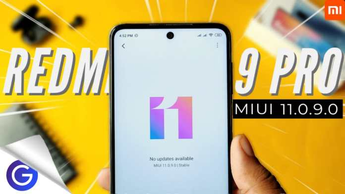 MIUI 11.0.9.0 stable update for redmi note 9 pro
