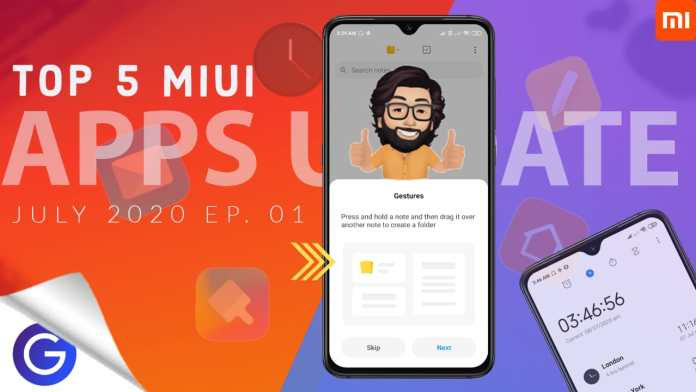 miui apps update july 2020