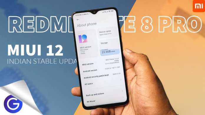 miui 12 indian update for redmi note 8 pro