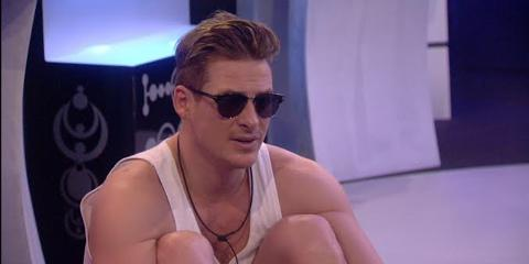 Lee Ryan in the Big Brother house