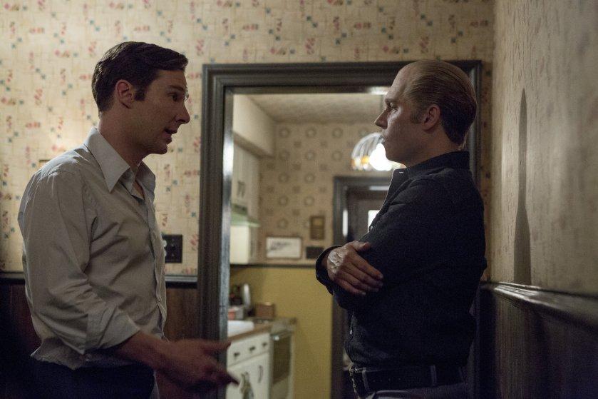 Johnny Depp and Benedict Cumberbatch in Black Mass (2015)