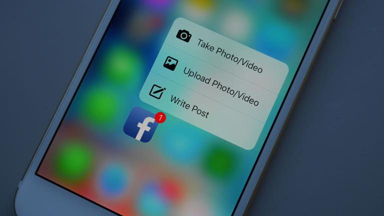 Facebook app 3D Touch update