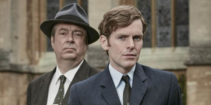 Roger Allam as DI Fred Thursday and Shaun Evans as Endeavour in ITV's Endeavour series 3