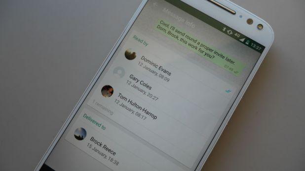 WhatsApp read times