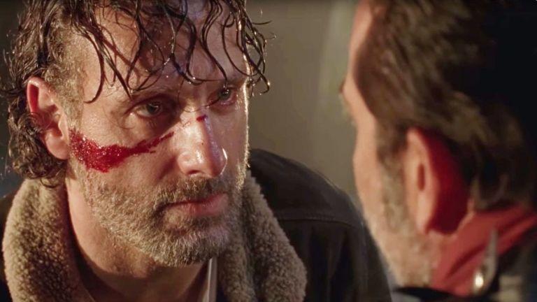 Rick stares down Negan in The Walking Dead season 7 premiere