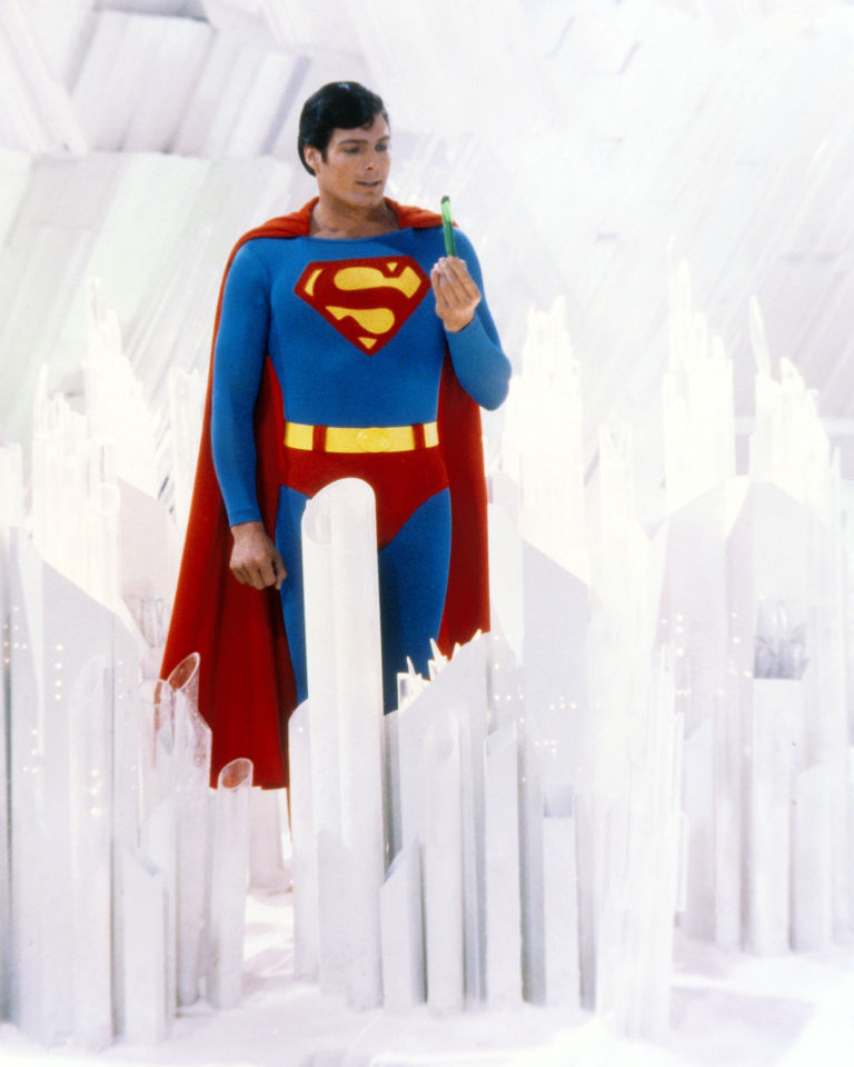 Superman, played by American actor Christopher Reeve