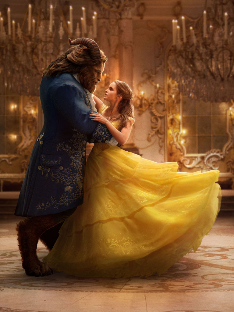 Dan Stevens as Beast, Emma Watson as Belle, Beauty and the Beast