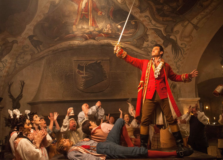 Luke Evans as Gaston, Beauty and the Beast