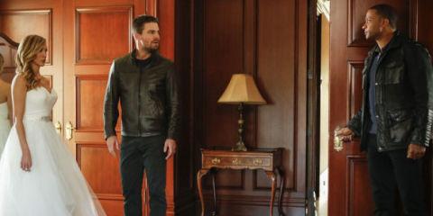 Arrow 100th episode Laurel wedding