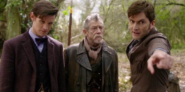 The War Doctor meets the 10th and 11th Doctors