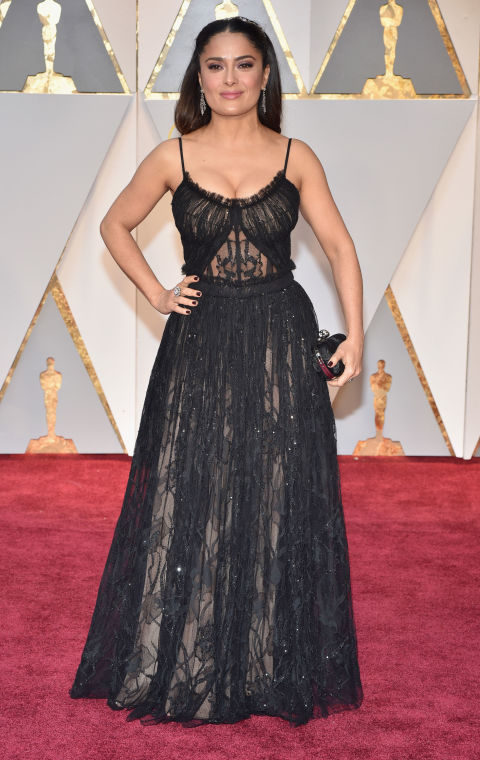 Image result for salma hayek oscars 2017