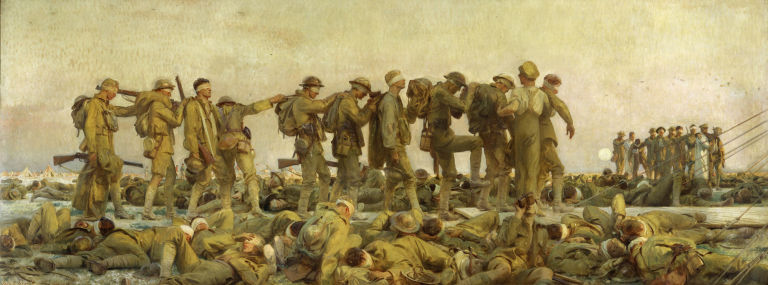 Gassed by John Singer Sargent World War I soldiers