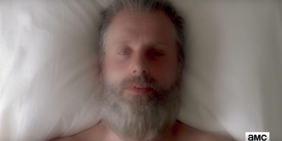 Image result for old man rick walking dead