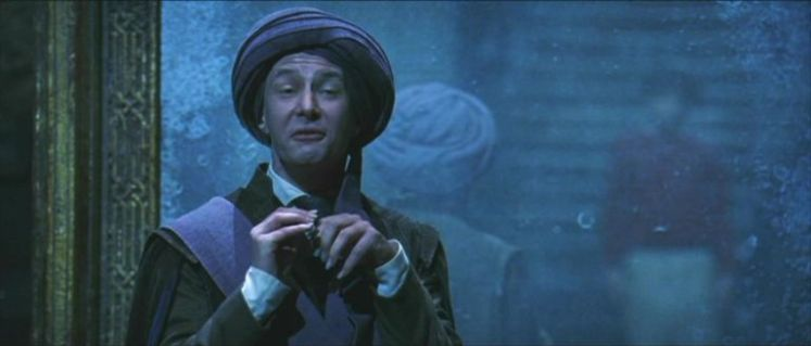 Professor Quirrell in Harry Potter
