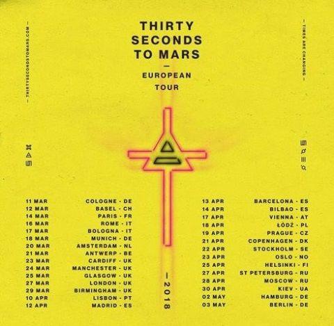 30 Seconds To Mars Tour Uk 2019 | Joshymomo.org