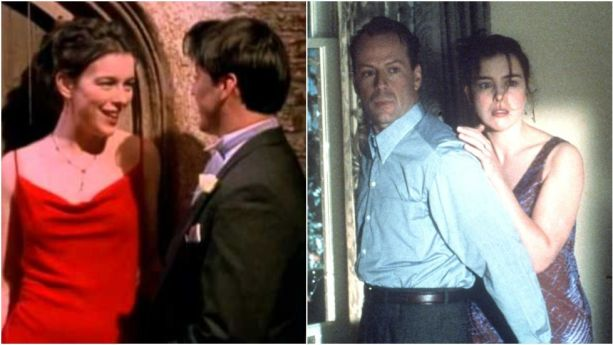 """Williams is probably best known for starringin The Sixth Sensewith""""neat guy"""" Bruce Willis,but a year earliershe wasEmily's bridesmaid, seducing Joey at Ross's wedding."""
