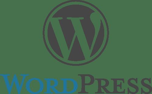 WordPress stacked logo image