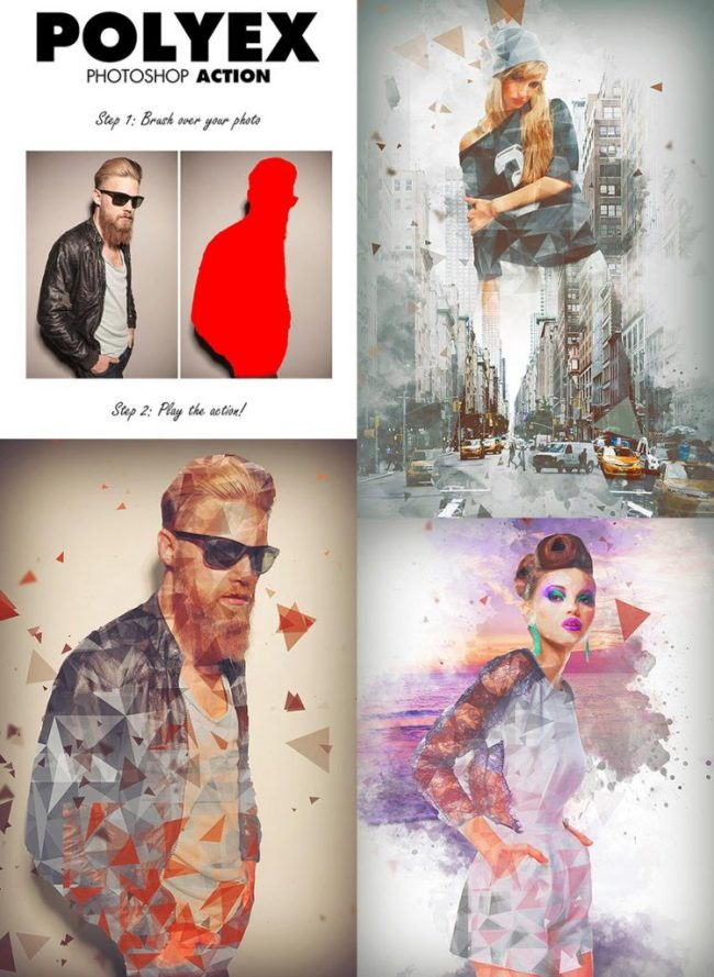 free download polyex-psd-photo-effect-action