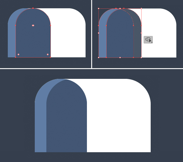 Tutorial Icon Flat Design Kotak Surat di Adobe Illustrator 04