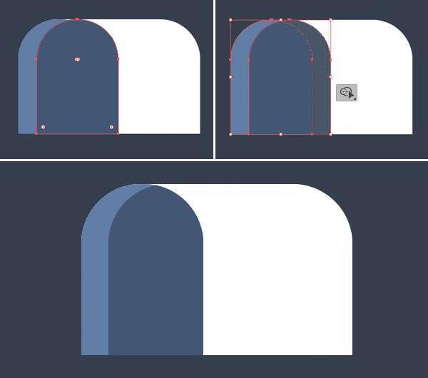 Tutorial Icon Flat Design Kotak Surat di Adobe Illustrator 04