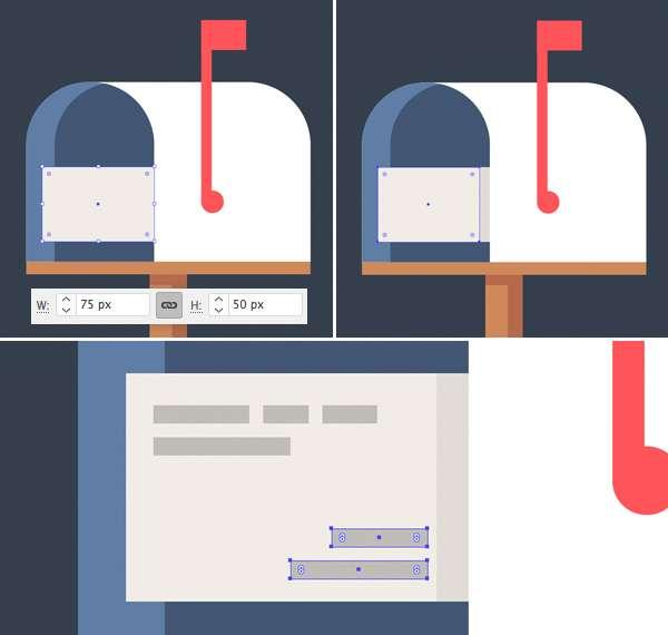 Tutorial Icon Flat Design Kotak Surat di Adobe Illustrator 09