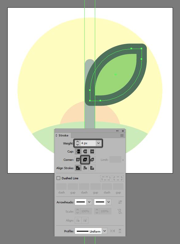 Tutorial Membuat Ikon Flat Design Energi Alam di Adobe Illustrator 08