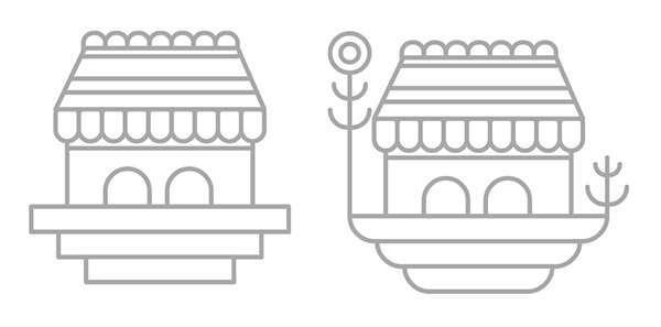 Tutorial Membuat Ikon Flat Design Vektor Bangunan Bergaya Fantasi 03