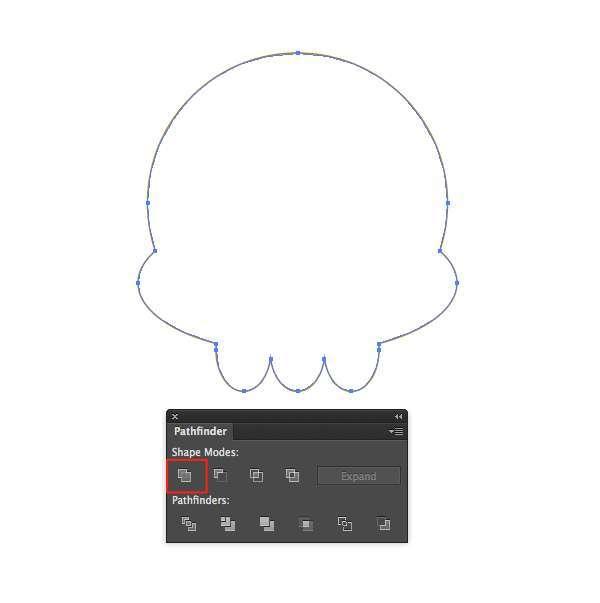 Tutorial Vektor Flat Design Tengkorak di Adobe Illustrator 02