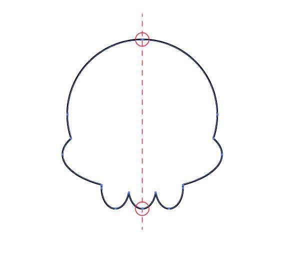 Tutorial Vektor Flat Design Tengkorak di Adobe Illustrator 04