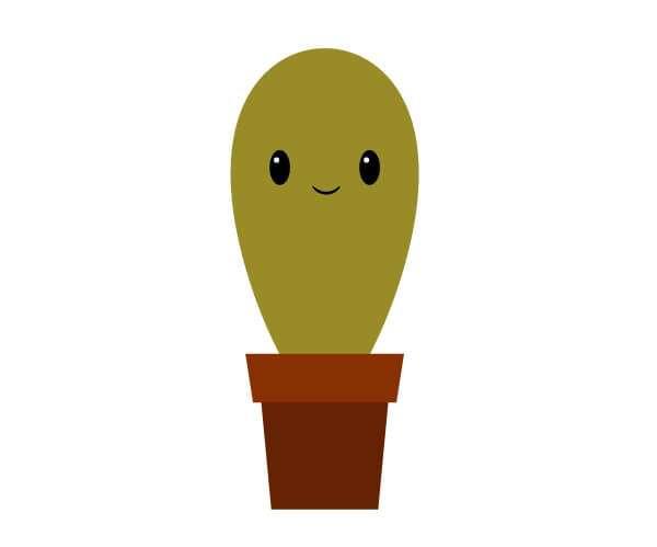 Tutorial Membuat Karakter Kaktus Lucu di Adobe Illustrator CC 20