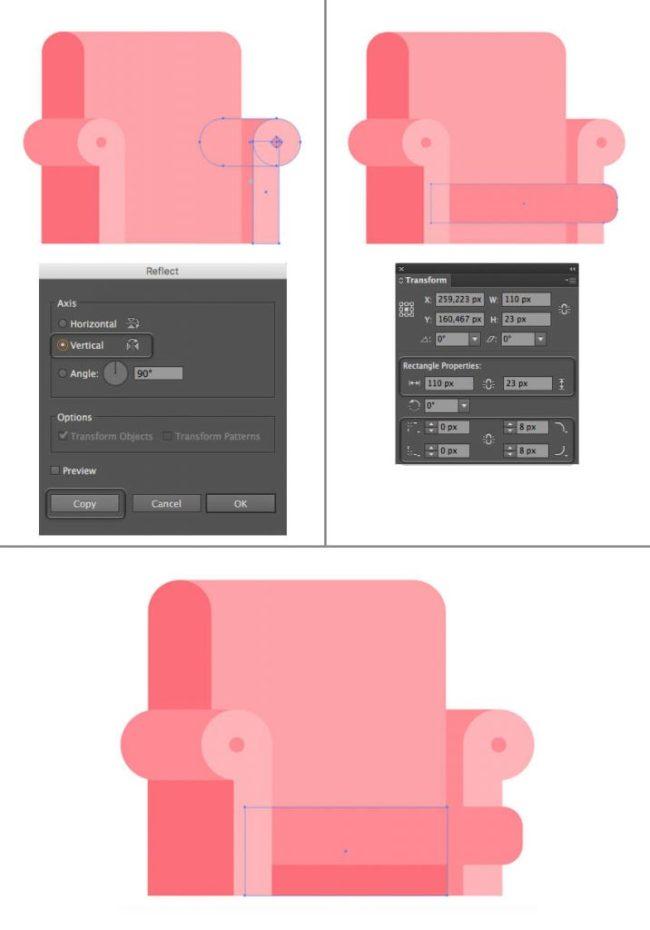 Tutorial Membuat Interior Flat Desain Flat di Adobe Illustrator CC 20