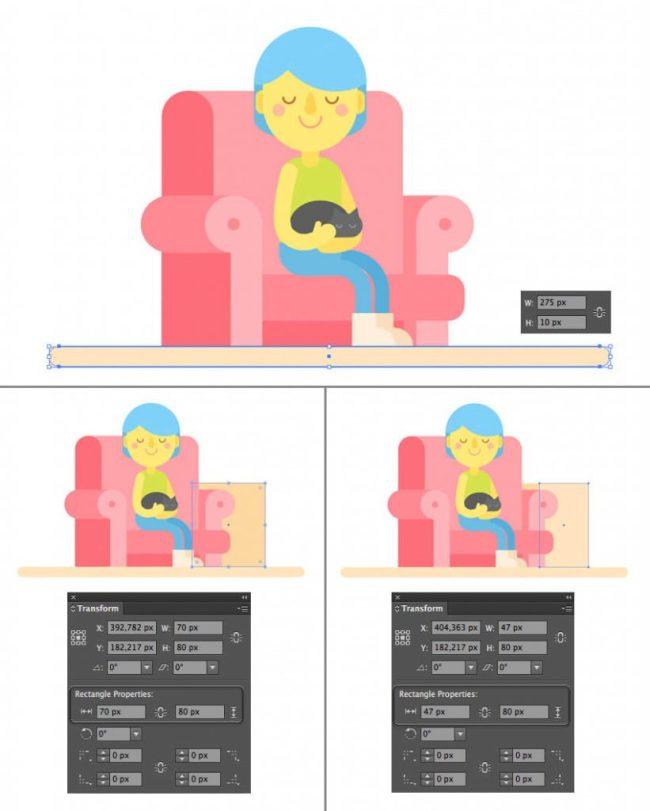 Tutorial Membuat Interior Flat Desain Flat di Adobe Illustrator CC 21