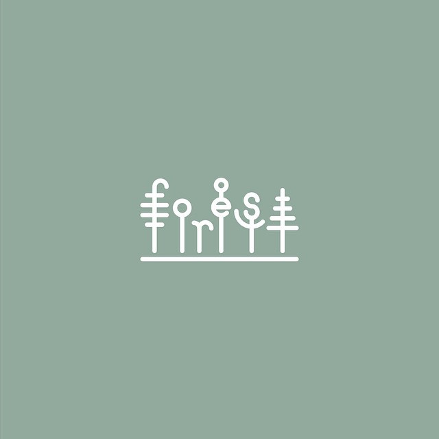Clever Typographic Logos - Forest