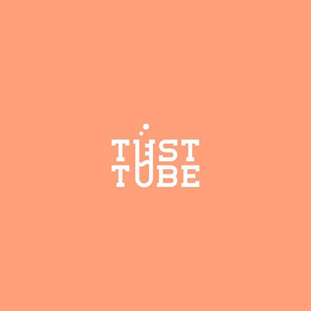 Clever Typographic Logos - Test tube
