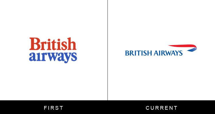 Original famous brand logos and now - British Airways