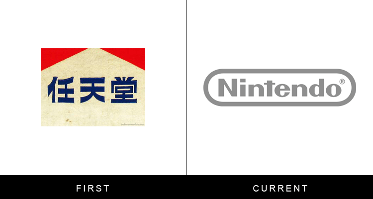 Original famous brand logos and now - Nintendo