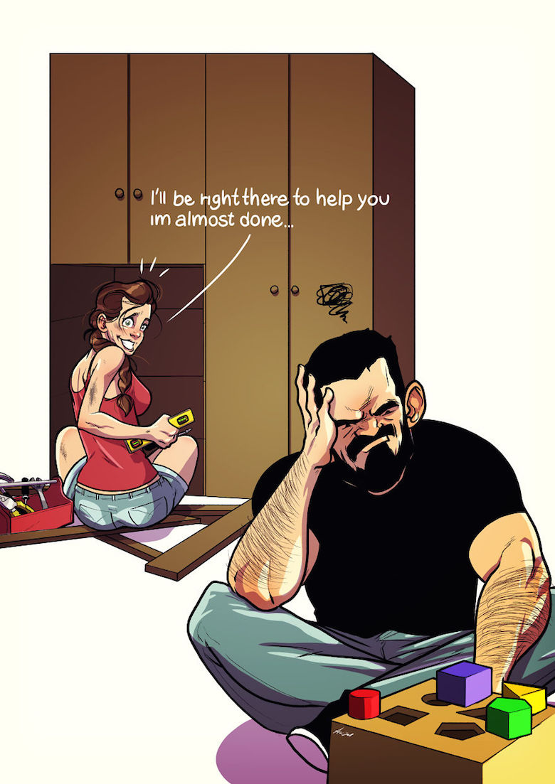 Artist Shares His Everyday Life With Wife Using Comic Illustrations