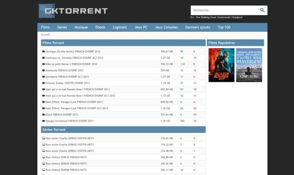 gktorrent-Torrent Français