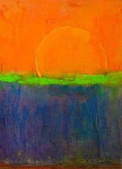 Orangeoverblue (2009) - Acrylic on Canvas - 30x22 in