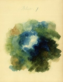 Mary Gartside Blue compostiion from her book An Essay on Light and Shade